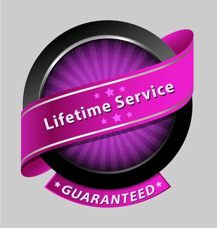 shareware:  Originally created lifetime service design element for multipurpose use Illustration
