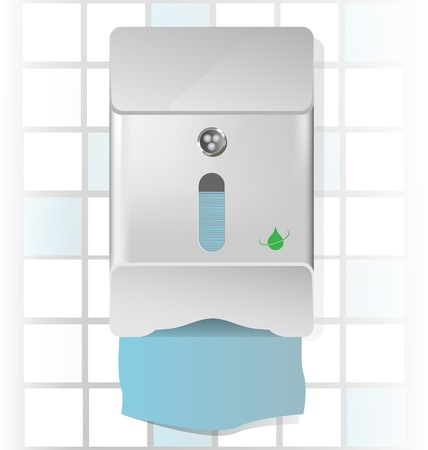 Vector illustration of a chrome paper towel dispenser 向量圖像