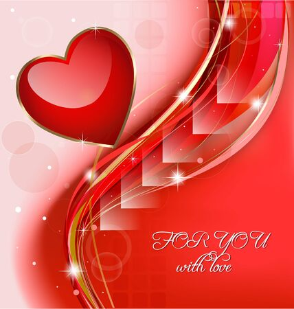 Creative design of a Valentine's day celebration background Stock Vector - 17217086