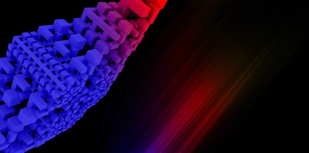 Abstract rainbow background with 3D render and hand painted elements Stock Photo - 17270913