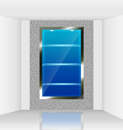 Virtual illuminated show room made ready for object imposition Vector