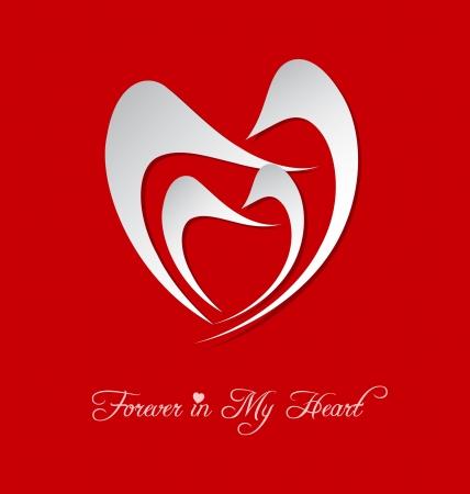 Stylized Valentines Day heart celebration card Stock Vector - 17339267
