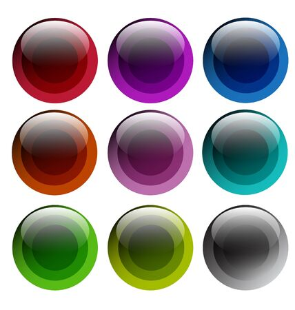 Creative collection of abstract glossy buttons for web design, labels design and presentation