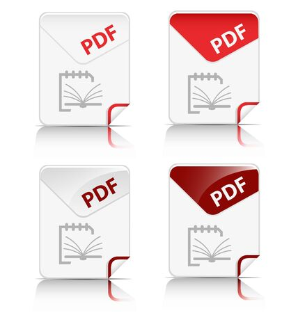 Creative and modern design 'PDF' file type icon Vector