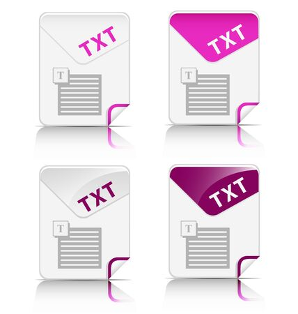 file type:  Creative and modern design TXT file type icon