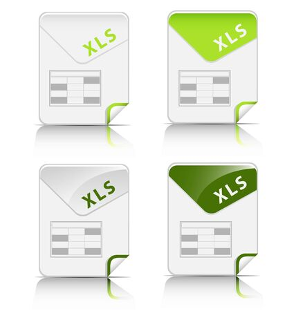 Creative and modern design XLS file type icon Vector