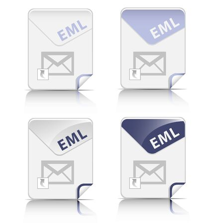 Creative and modern design EML file type icon Stock Vector - 17474799