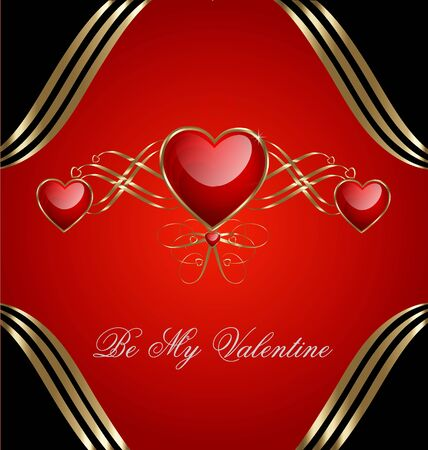 Valentine�s day celebration background in vintage style Stock Vector - 17548859