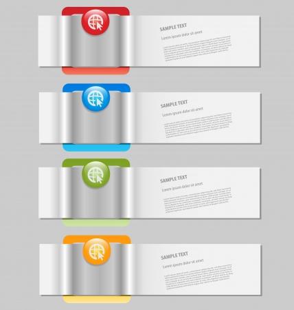 Gestileerde infographics sjabloon met lege tekstvakken Stockfoto - 17680269