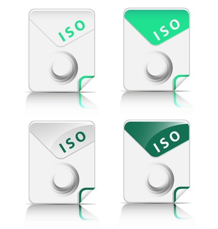 Creative and modern design ISO file type icon Stock Vector - 18026913
