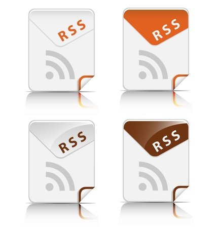 Creative and modern design RSS file type icon Vector