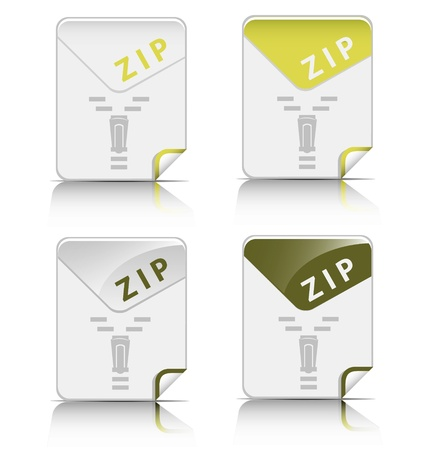 Creative and modern design ZIP file type icon Stock Vector - 18026909