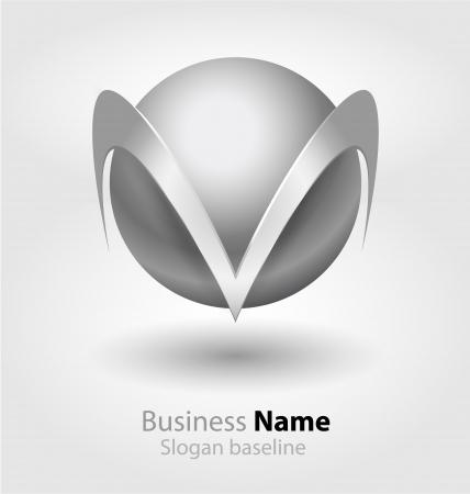 Originally designed abstract glossy 3D logo Stock Vector - 18139177