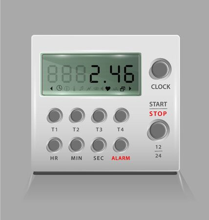 Vector illustration of the personal portable digital timer  Vector