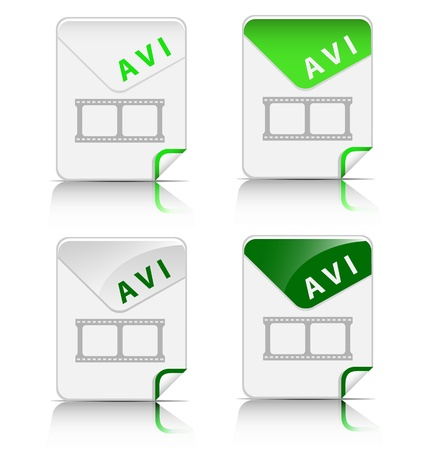 Creative and modern design AVI file type icon Stock Vector - 18216903