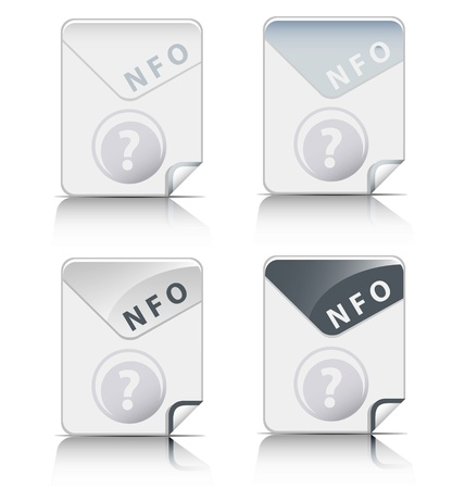 Creative and modern design NFO file type icon Stock Vector - 18311054