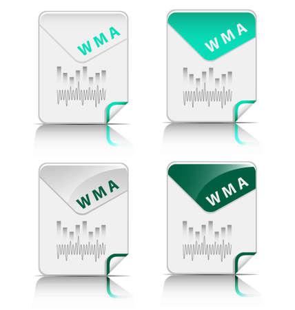 Creative and modern design WMA file type icon Stock Vector - 18311058