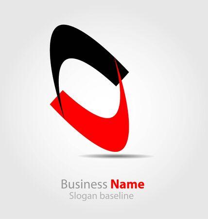 originally:  Originally designed abstract business logo Illustration