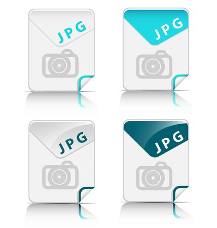 Creative and modern design JPG file type icon Stock Vector - 19369379