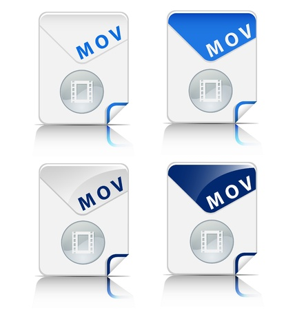 mov: Creative and modern design MOV file type icon