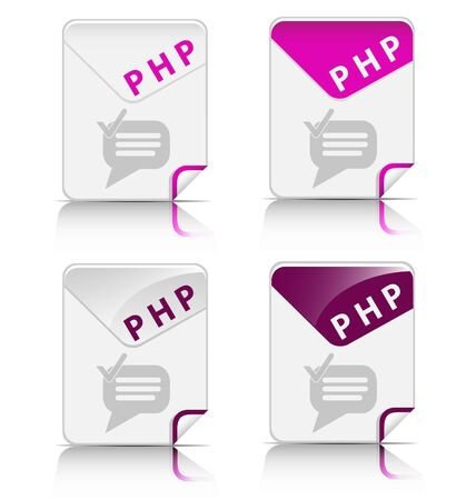Creative and modern design PHP file type icon Stock Vector - 19369380