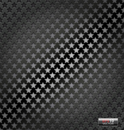 Creative illustration of the star lite dynamic vector  metal background Vector