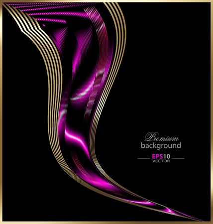 Creative illustration of the abstract art frame background