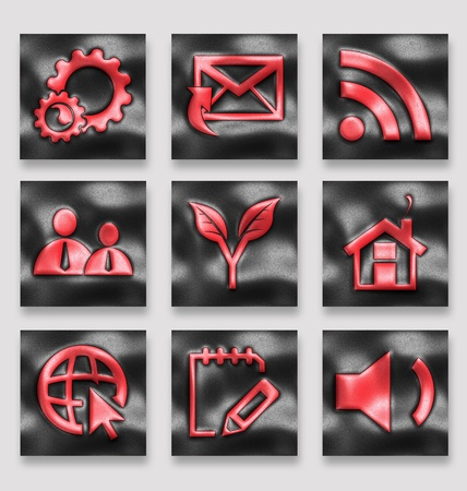 Creative collection of the leather icons for multipurpose use in design Stock Photo - 19978427