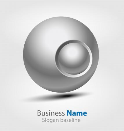 Originally designed abstract glossy 3D logo Vector
