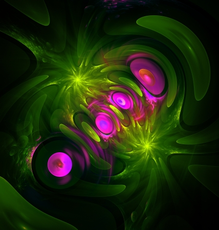 generating:  Abstract background with computer generated fractal artwork. Stock Photo