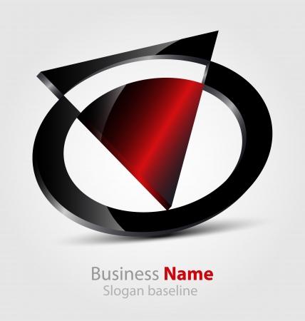 Originally designed abstract glossy 3D logo Stock Vector - 20242576