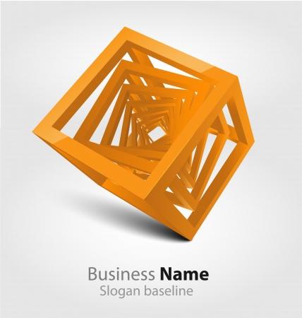 Originally designed abstract glossy 3D logo Stock Vector - 20242578