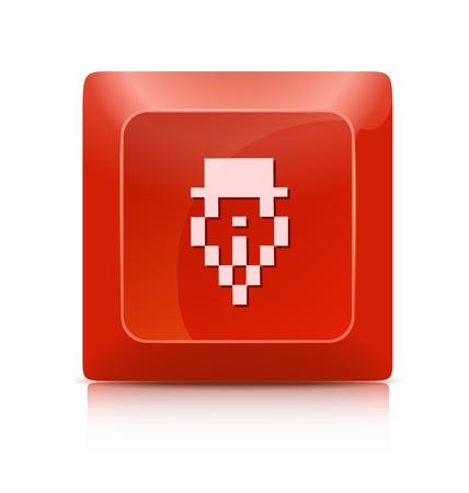 Minimalistic elegant subscribe web button Stock Vector - 20901691