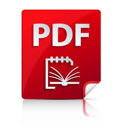 Creatively designed plastic and embossed PDF file icon Vector