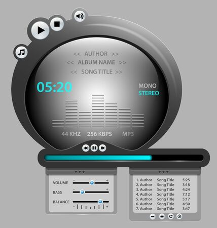 audio player: Vector illustration of uniquelly designed audio player gadget Illustration