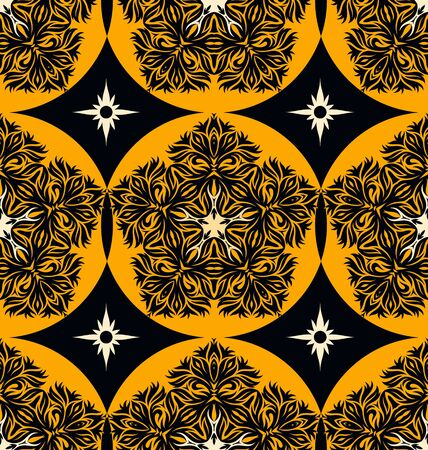 Seamless ornament pattern tile for design needs Stock Vector - 21883730