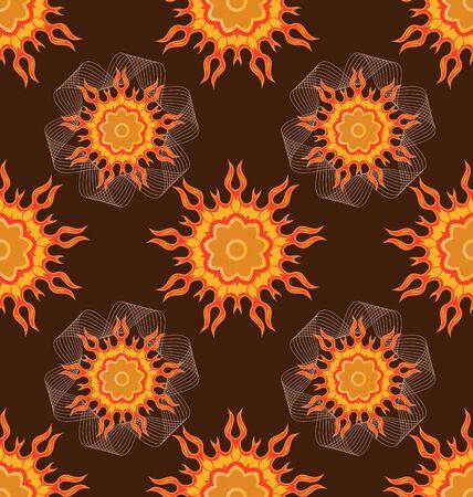 Seamless ornament pattern tile for design needs Stock Vector - 21883732