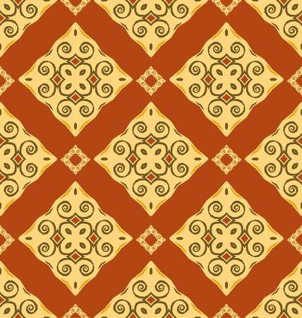 Seamless ornament pattern tile for design needs Stock Vector - 21883735