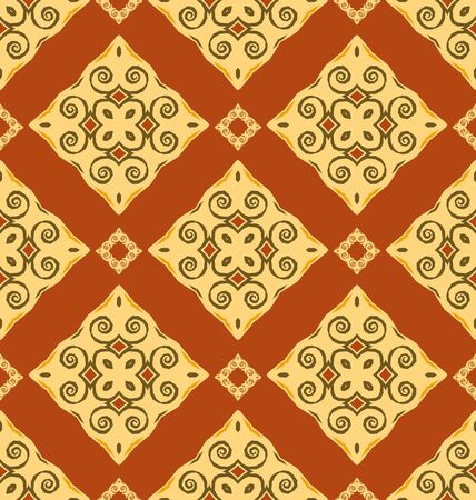 Seamless ornament pattern tile for design needs