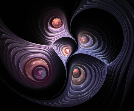 generate: Originally created computer fractal artwork for design needs