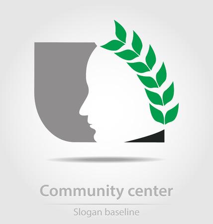 Original community center business icon Stock Vector - 23063978