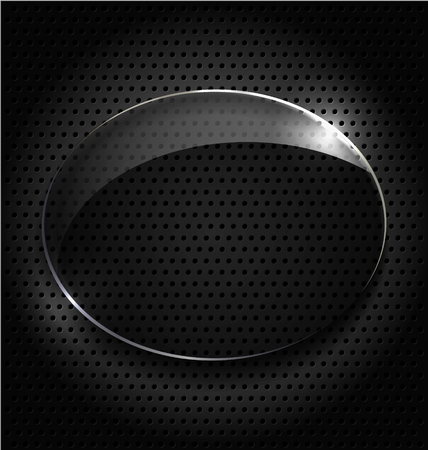 Abstract black background with glass element and flare Stock Vector - 23064054