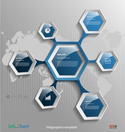 estructura: Presentación estilizada, plantilla opción para documentos comerciales Vectores