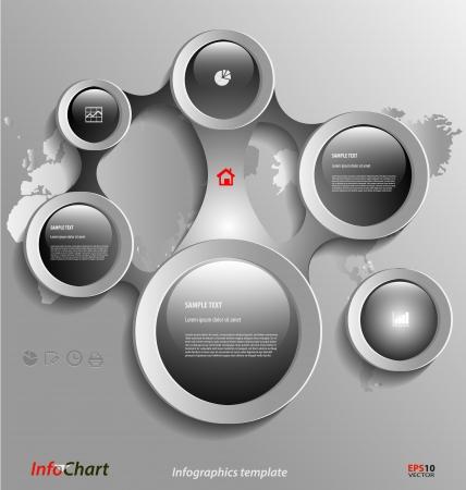 Gestileerde presentatie, optie sjabloon voor zakelijke documenten Stockfoto - 23064066