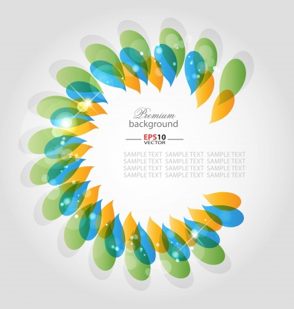 Creative abstract  background with color and gradient embellishments Vector