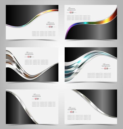 Elegant business card design template for creative design Illustration