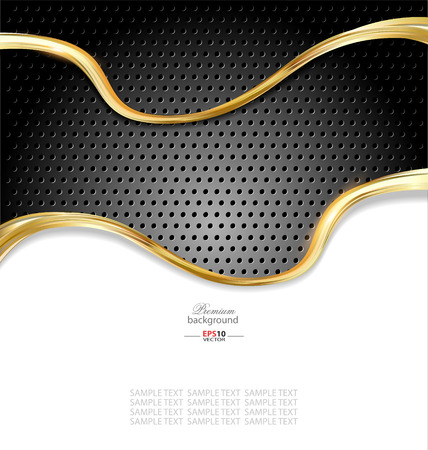 Abstract gold metallic background for multipurpose design needs