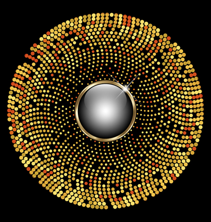 gold circle: Gold circle mosaic
