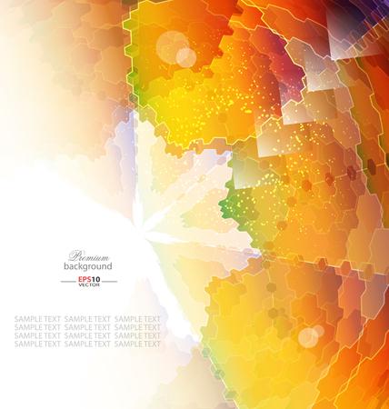 abstrakce: Barevná mozaika abstrakce šablona pro kreativní design Ilustrace