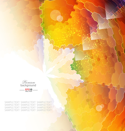 Color mosaic abstraction template for creative design Vettoriali